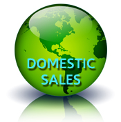 Domestic sales globe