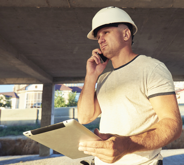 Construction and field worker using device