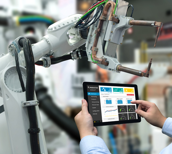 manufacturing uses mobile device