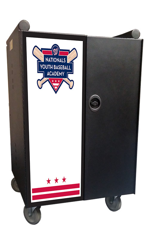 Nationals Youth Baseball Academy door graphic