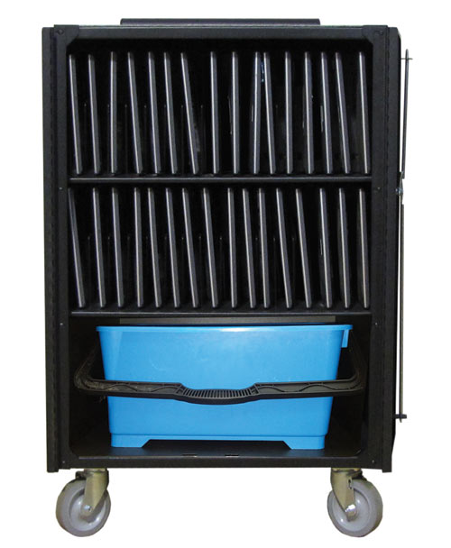 V-Series cart for 32 users and storage bin