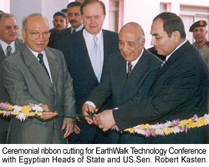 Ribbon cutting EarthWalk Tech Conference