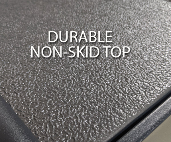 Durable non-skid top and handle