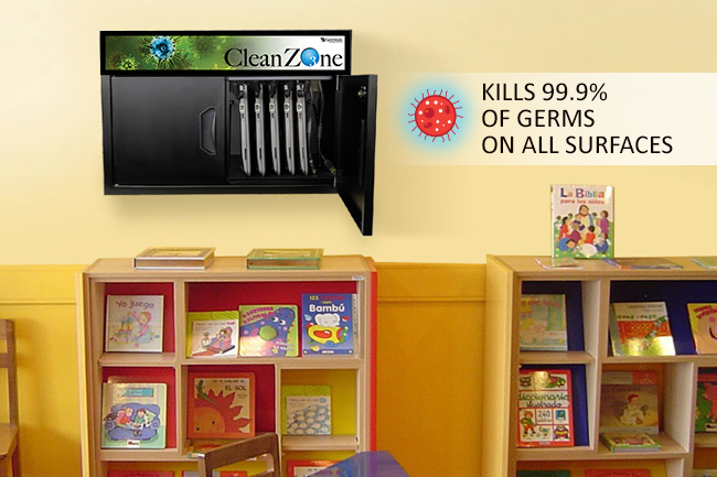 CleanZone station in library